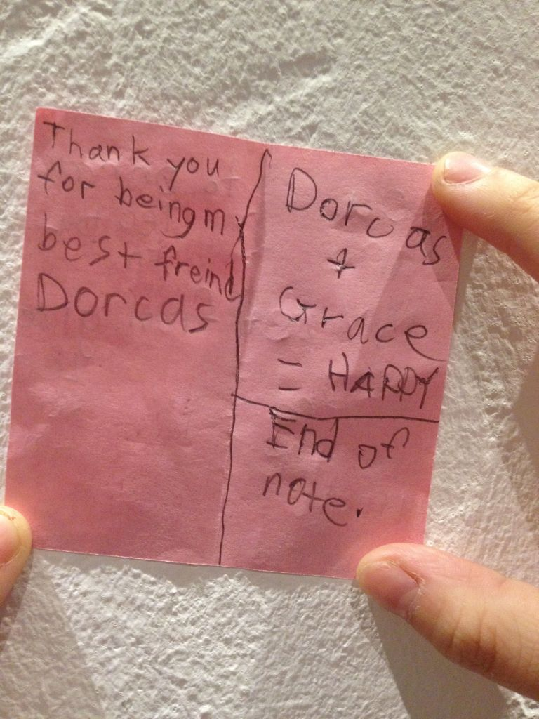 Love the honesty and trueness of this little note. Childhood friends are just absolutely precious!