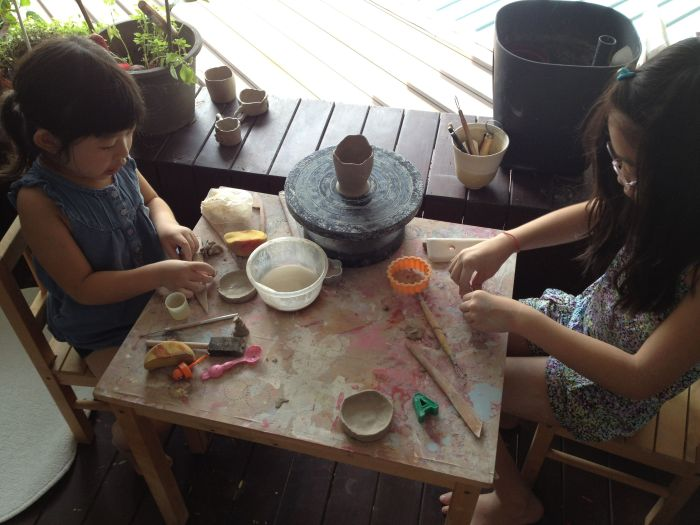 We also attended Clay Class which the girls loved!