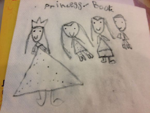 K's drawings of us are always super cute!