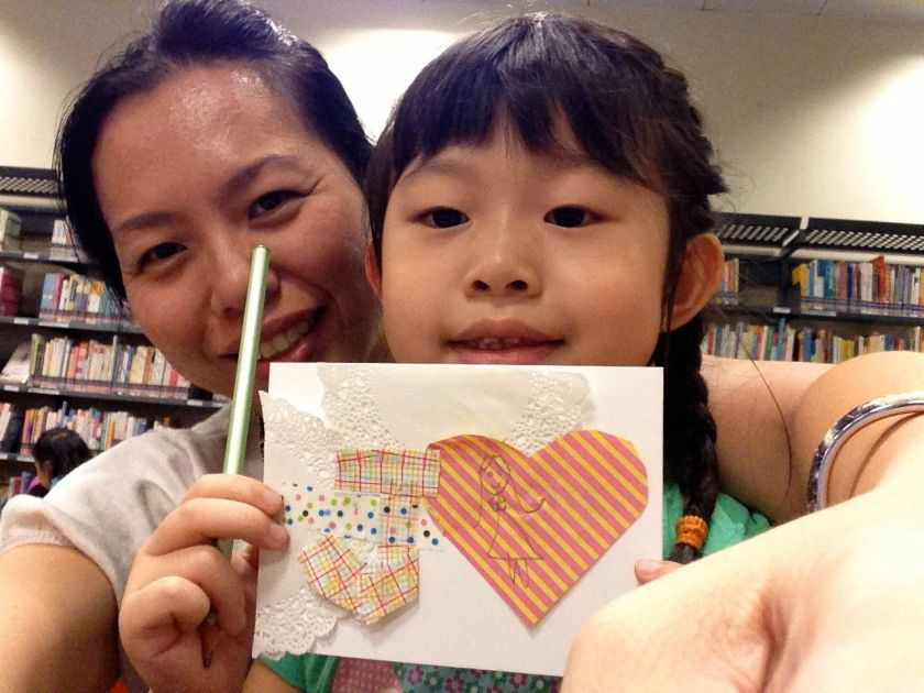 We also had lots of time to visit the library, which had an MT crafting session going on. Just in time for Xmas cards!