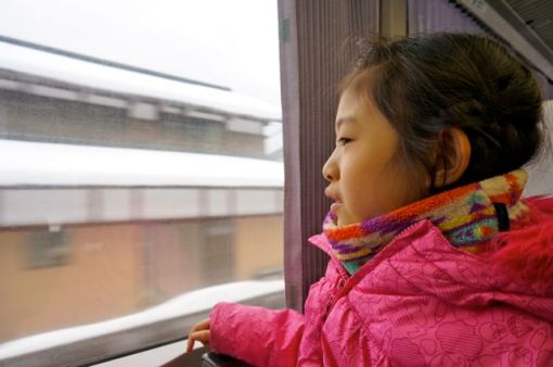 Looking at the snow