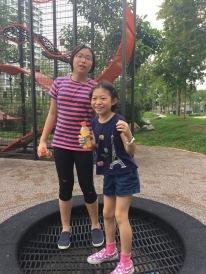 Trampoline fun in Punggol